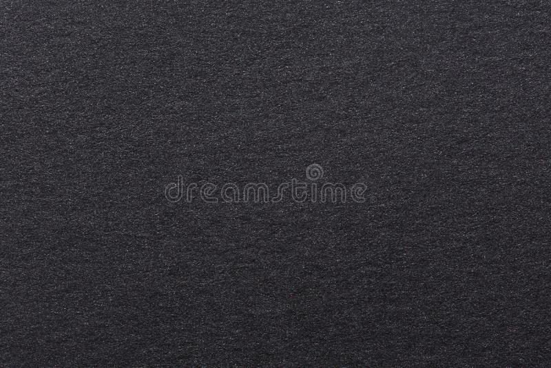 Schwarzes klassisches Aquarellpapier, Beschaffenheit Schwarzes backgound Papier der hohen Qualität stockbild