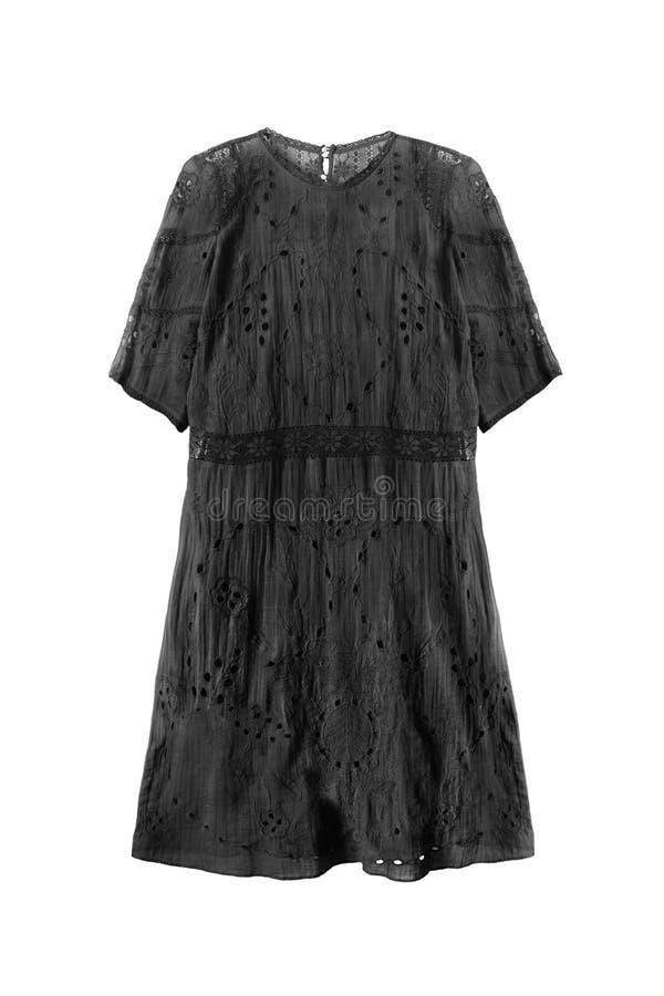 Schwarzes Kleid getrennt lizenzfreie stockfotos