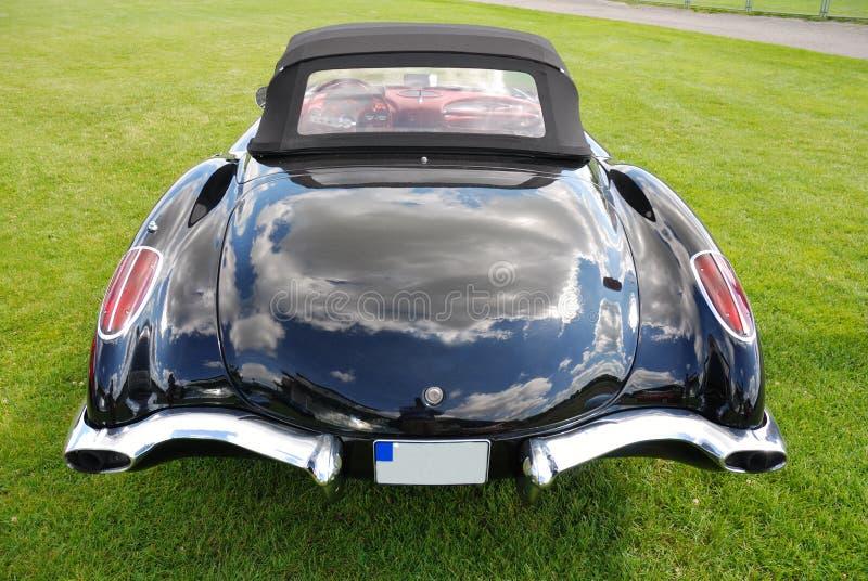 Schwarzes Korvette-Kabriolett stockfoto