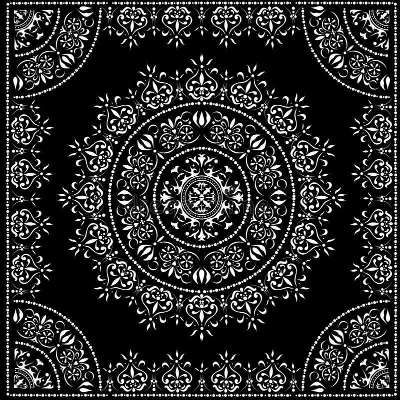 Schwarzes Kreismuster im Feld stock abbildung