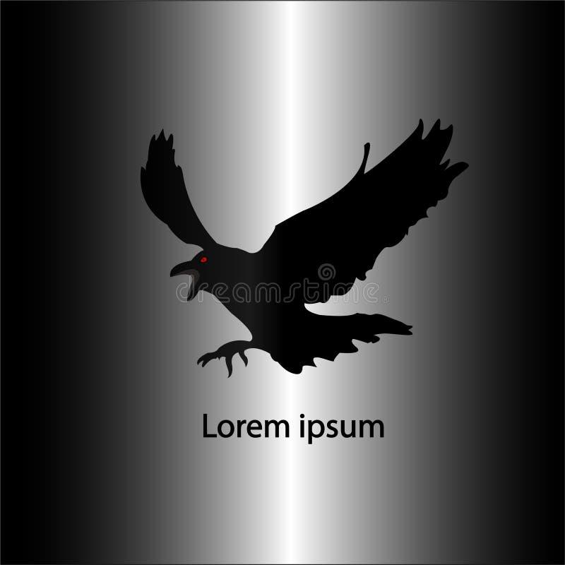 Schwarzes Kronen-Logo stockfotografie