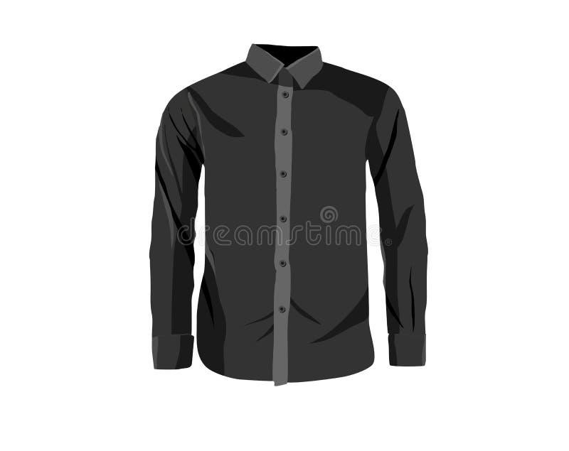 Schwarzes langes sleeved Hemd lizenzfreie stockfotos