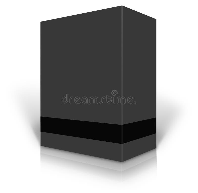 Schwarzes leeres Kleinproduktpaket vektor abbildung