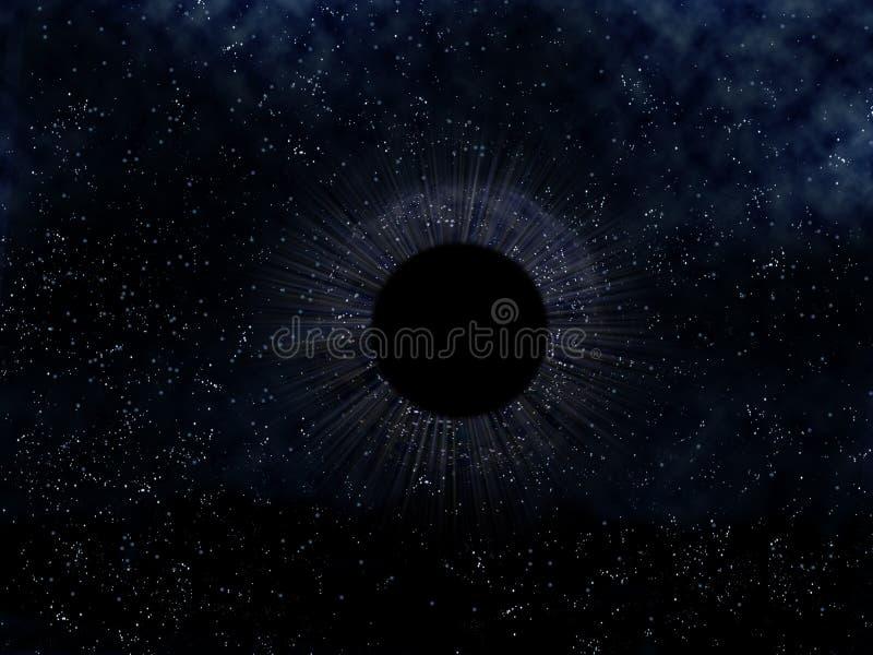 Schwarzes Loch stock abbildung