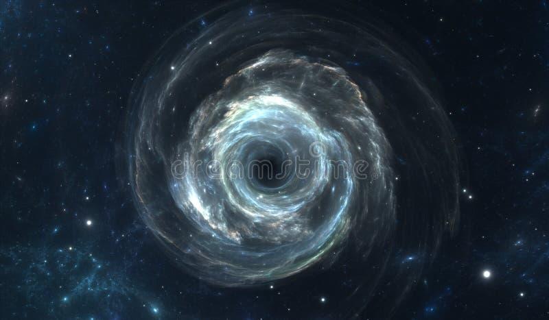 Schwarzes Loch im Weltraum lizenzfreie abbildung