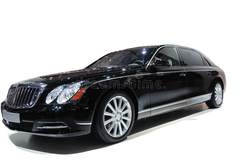 Schwarzes Luxuxauto stockfotografie