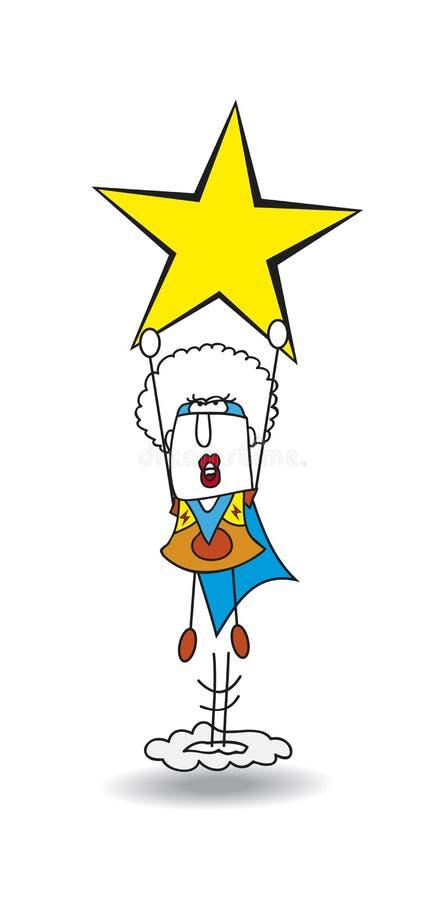 Schwarzes Mamba der Superheld ist ein Stern stock abbildung