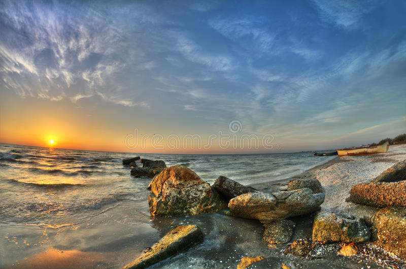 Schwarzes Meer stockfotografie