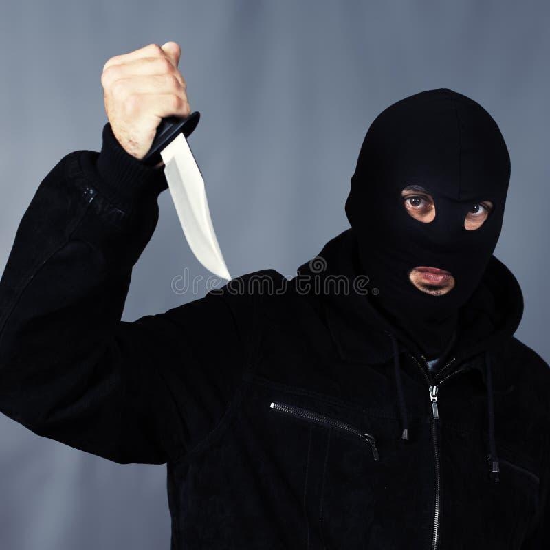 Schwarzes Messer lizenzfreie stockbilder