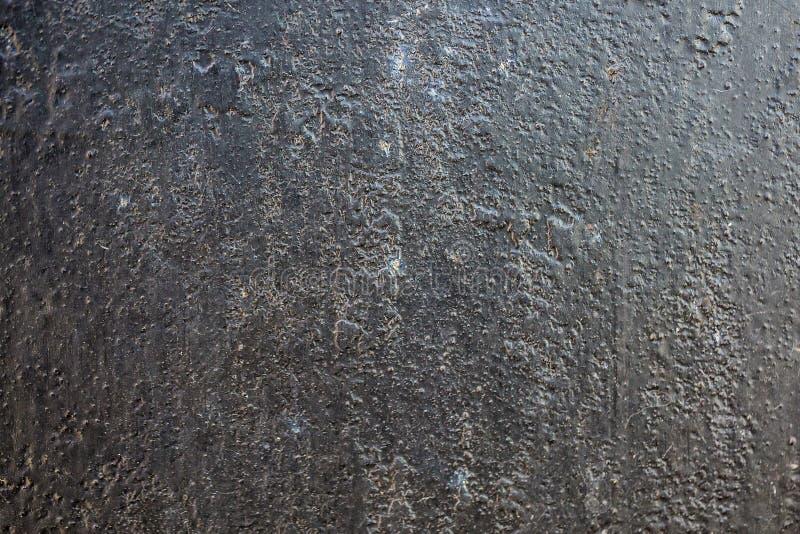 Schwarzes Metall schwarzes metall korrodierter beschaffenheitshintergrund stockfoto