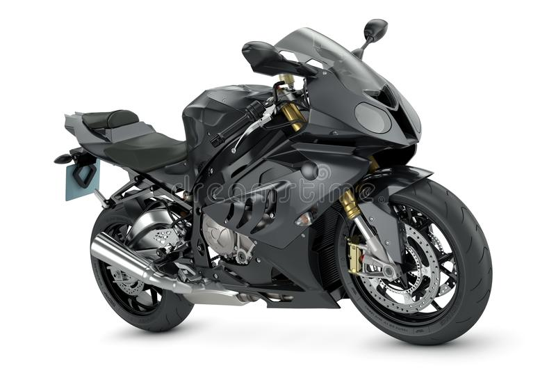Schwarzes Motorrad stock abbildung