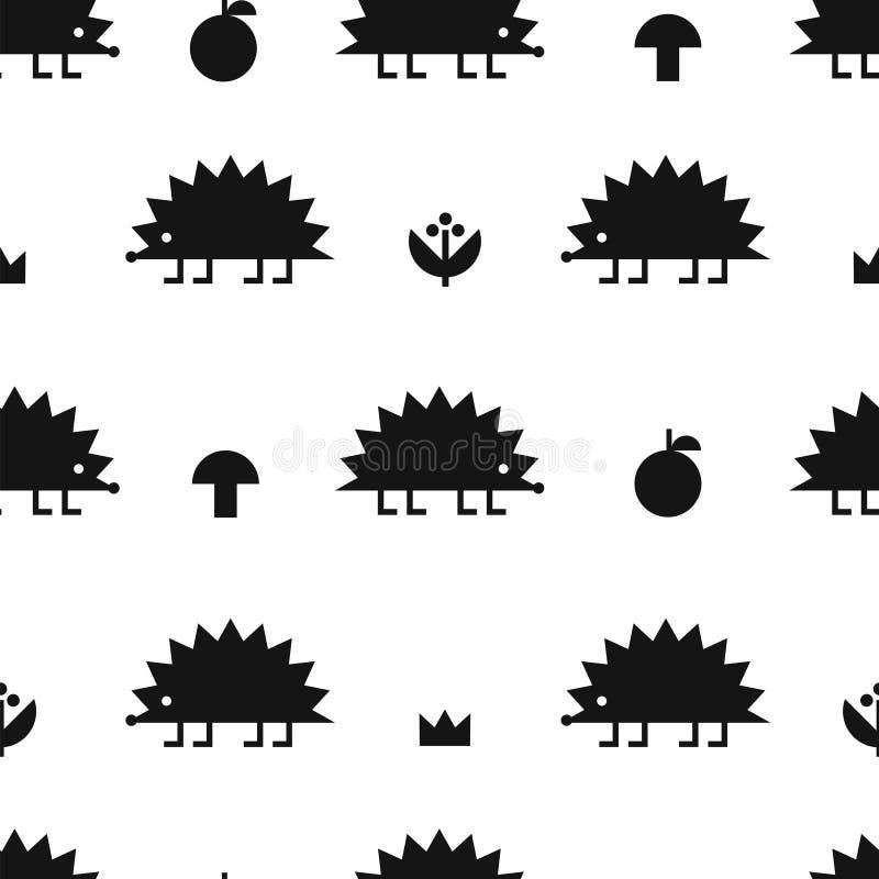 Schwarzes Muster des Igelen vektor abbildung
