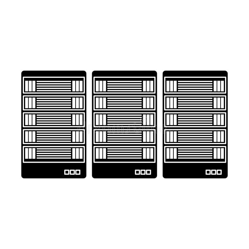 schwarzes Optimierungsdatenbankikonen-Bilddesign lizenzfreie abbildung