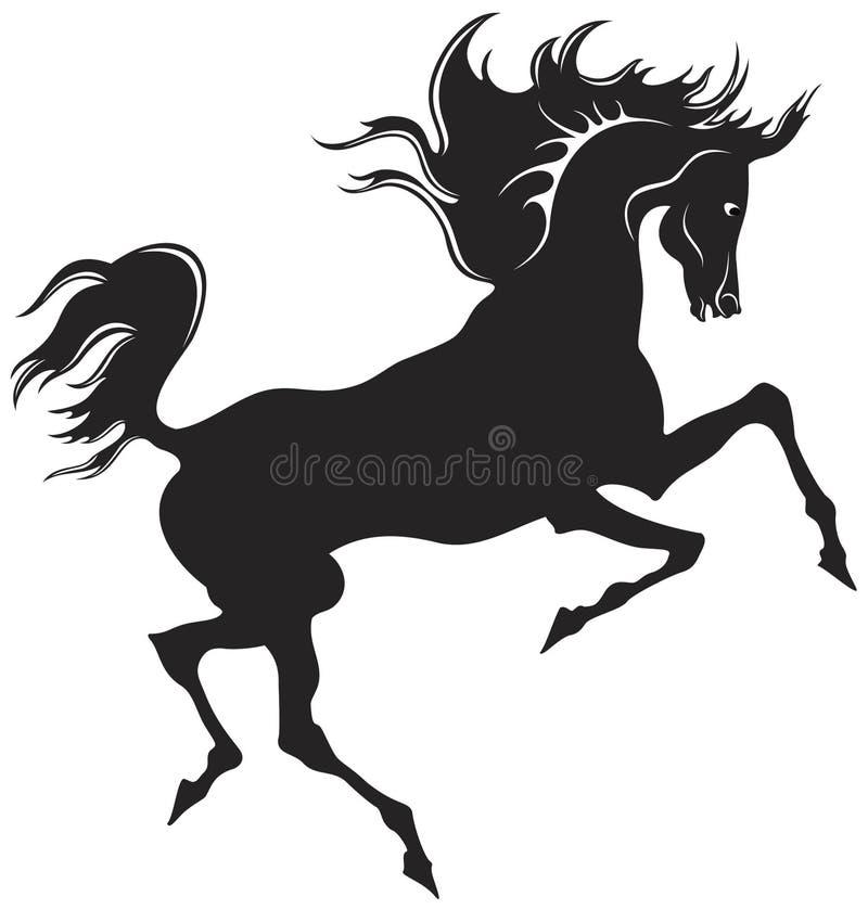 Schwarzes Pferd stock abbildung