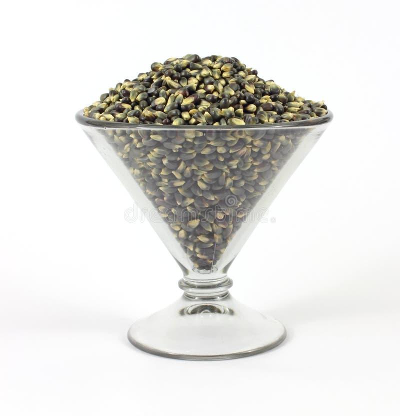 Schwarzes popcorn in einem gro en martini formte glas for Schwarzes glas
