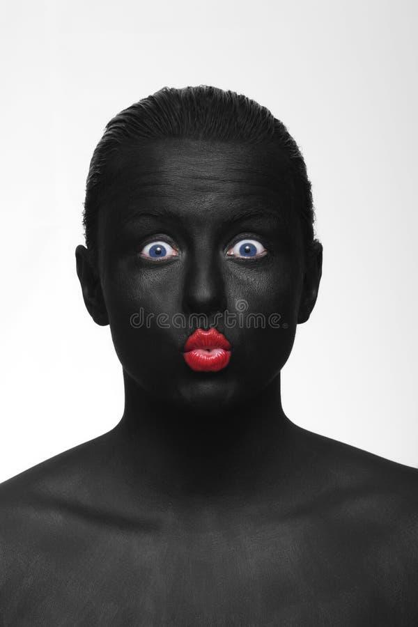 Schwarzes Portrait stockfoto