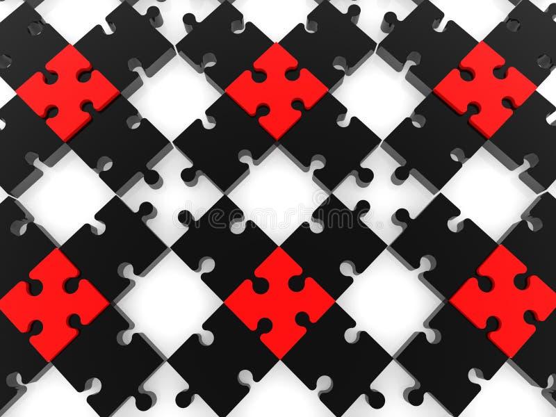 Schwarzes Puzzlespiel mit leeren Räumen lizenzfreie abbildung