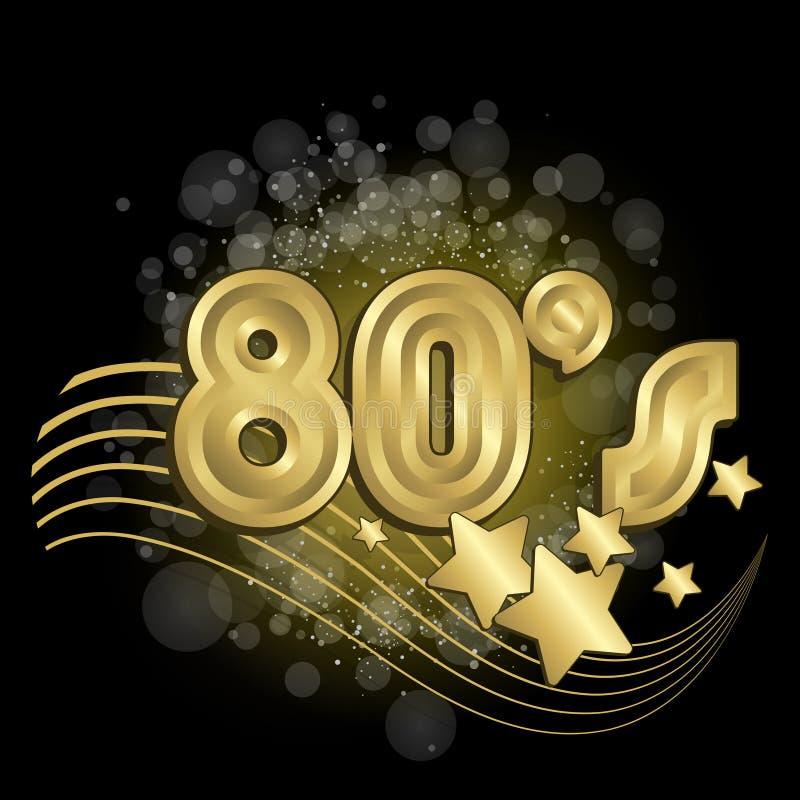 Schwarzes 80s lizenzfreie abbildung