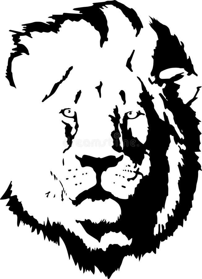 Schwarzes Schattenbild des Löwes stockfoto