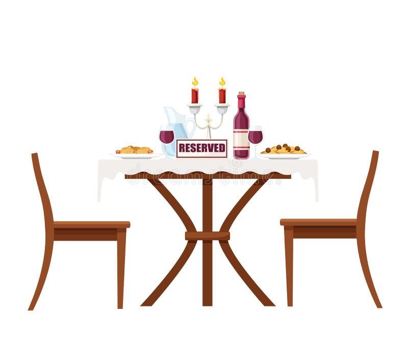 Schattenbild Der Tabelle Mit Lebensmittel Vektor Abbildung   Illustration von vektor, mahlzeit ...