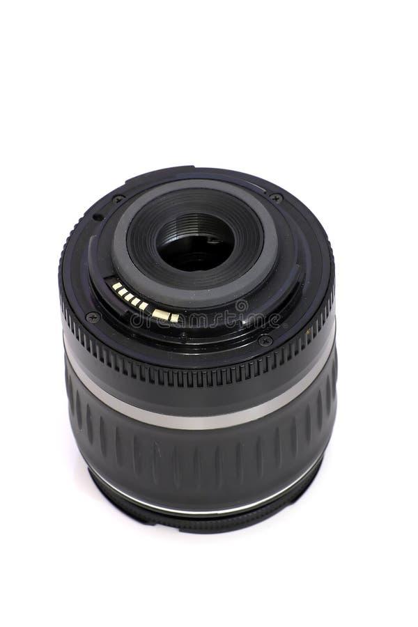Schwarzes SLR Kameraobjektiv lizenzfreie stockbilder