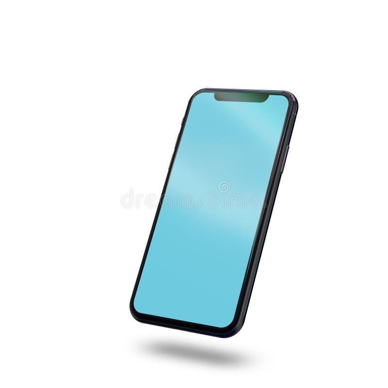 Schwarzes Smartphonemodell vektor abbildung