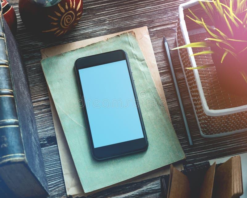 Schwarzes Smartphonemodell lizenzfreie stockfotografie
