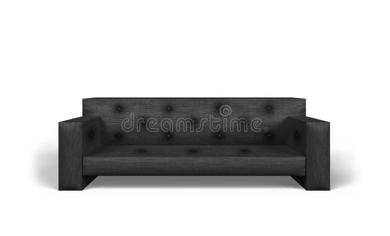 Schwarzes Sofa vektor abbildung