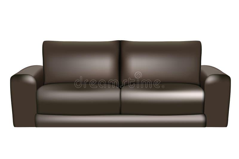 Schwarzes Sofa lizenzfreie abbildung
