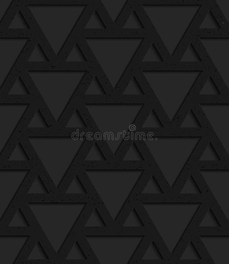 Schwarzes strukturiertes Plastikdreieckgitter vektor abbildung