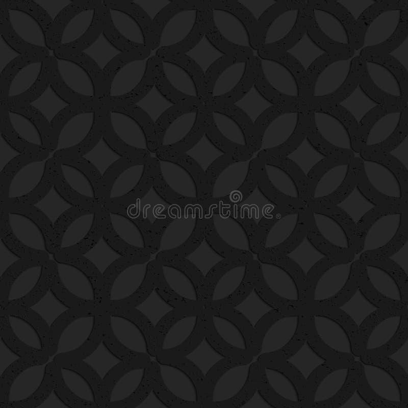 Schwarzes strukturiertes unregelmäßiges Plastikgitter mit Kreisen lizenzfreie abbildung