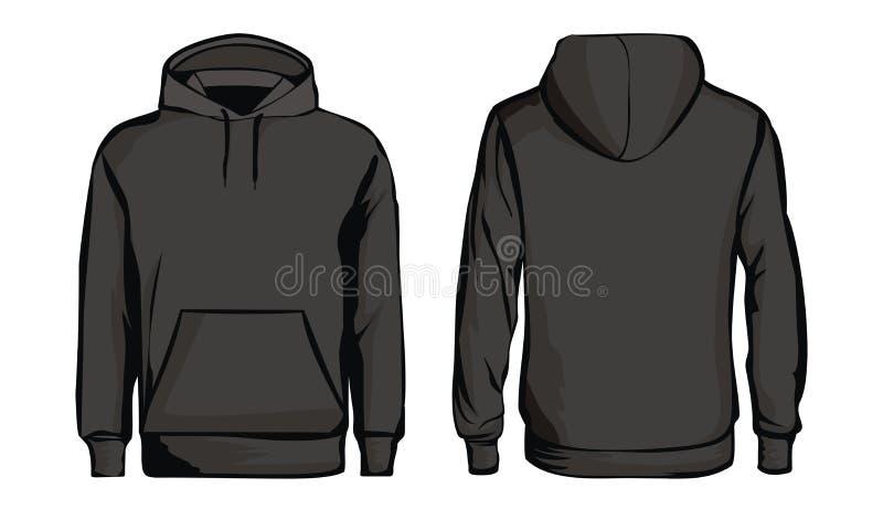 Schwarzes Sweatshirt der Schablone lizenzfreie abbildung