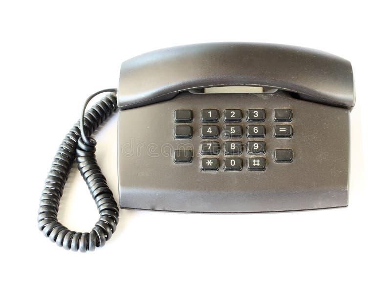 Schwarzes Telefon der Weinlese stockfotografie