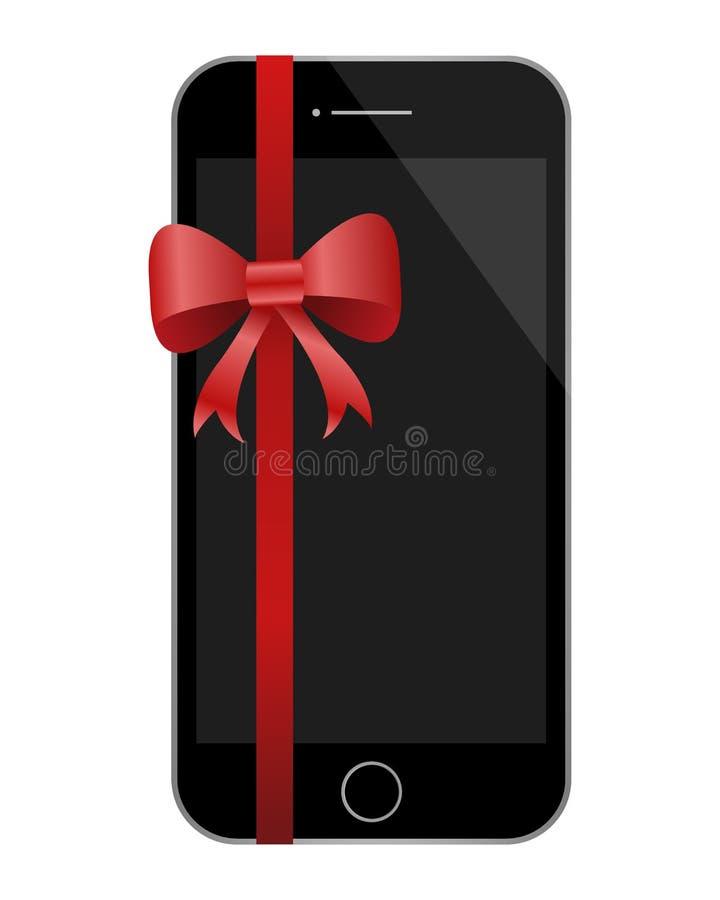Schwarzes Telefon mit rotem Band stockbilder
