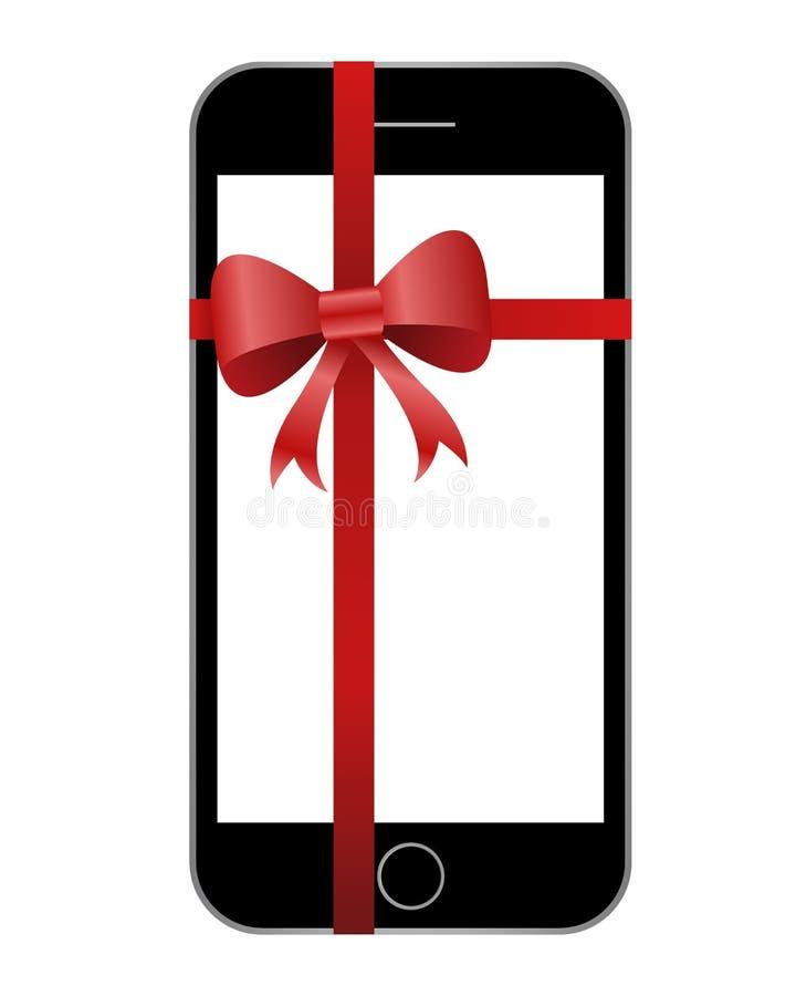 Schwarzes Telefon mit rotem Band stockfoto