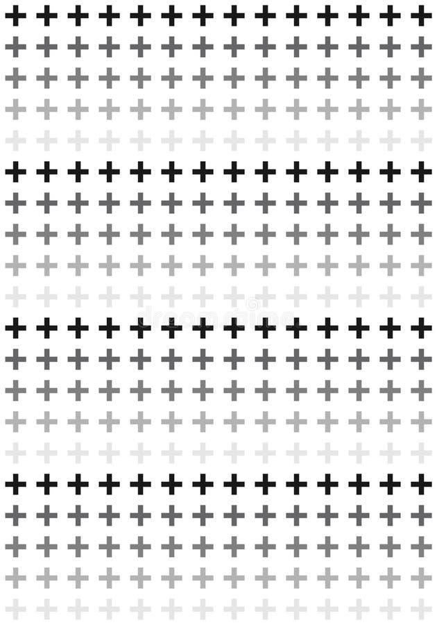 Schwarzes u. weißes Kreuzmuster lizenzfreie abbildung