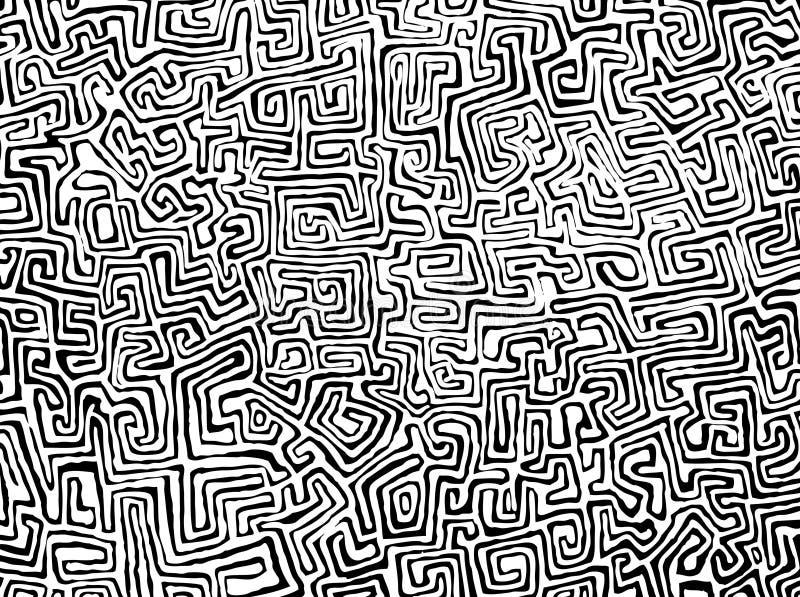 Schwarzes u. weißes Muster stockfotos