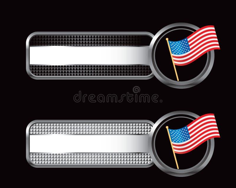 Schwarzes und checkered Tabulatoren des Silbers mit amerikanischer Flagge vektor abbildung