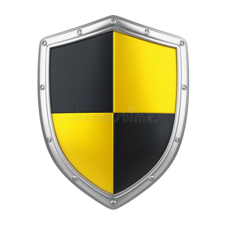 Schwarzes und gelbes Schild lokalisiert vektor abbildung