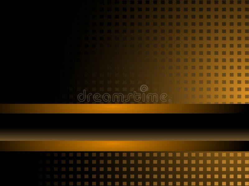 Schwarzes und Goldhintergrund lizenzfreie abbildung