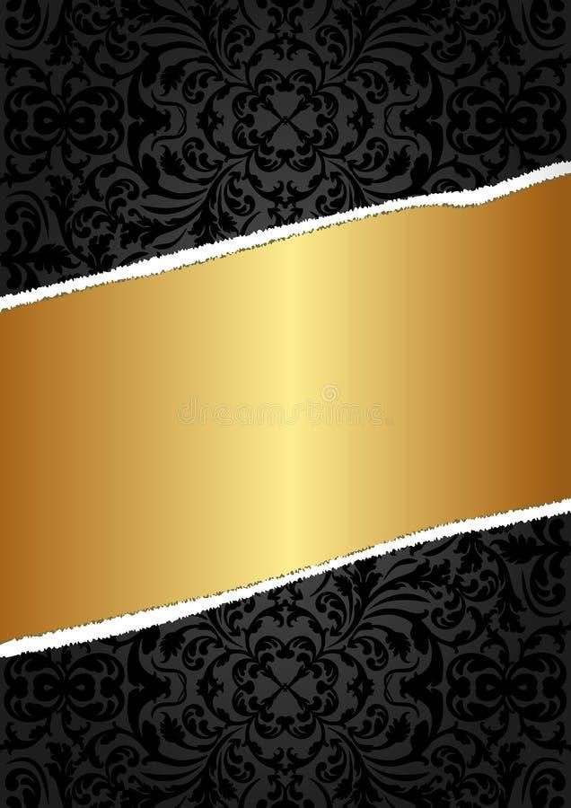 Schwarzes Und Goldhintergrund Stockfotos