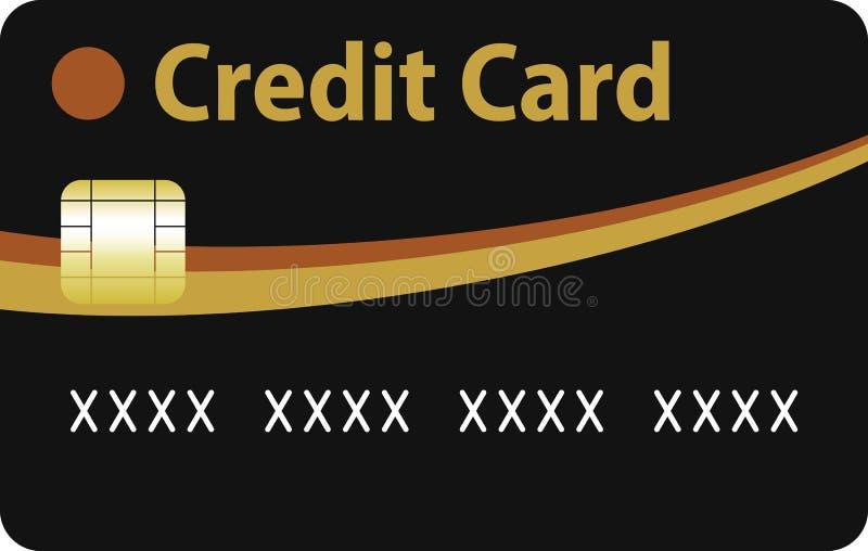 Schwarzes und Goldkreditkarte vektor abbildung
