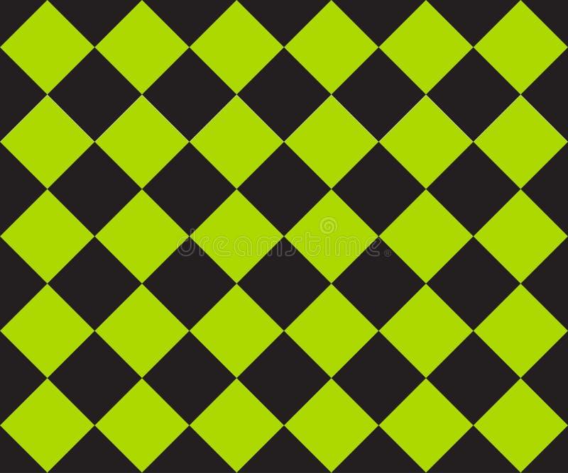 Schwarzes und gr?nes K?figplaid Ska-Hintergrund Qualit?t 3d ?bertragen Vector nahtloses Muster stock abbildung