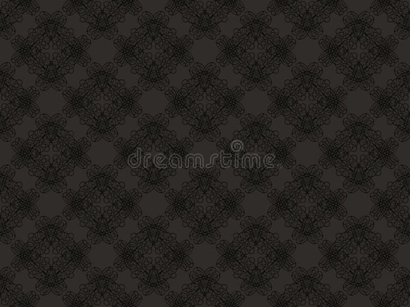 Schwarzes und graues nahtloses Tapetenmuster lizenzfreie abbildung