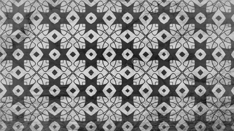 Schwarzes und Gray Geometric Ornament Background Pattern lizenzfreie abbildung