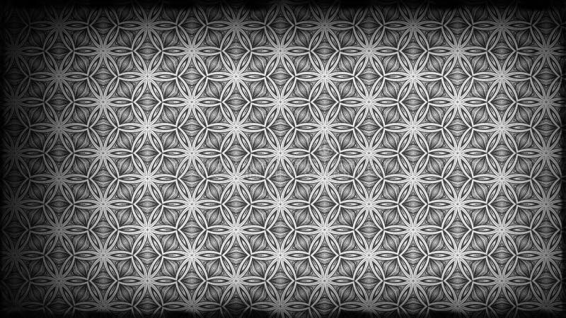 Schwarzes und Gray Vintage Floral Ornament Wallpaper kopieren grafischen schönen eleganten Hintergrund Entwurf der grafischen Kun stock abbildung