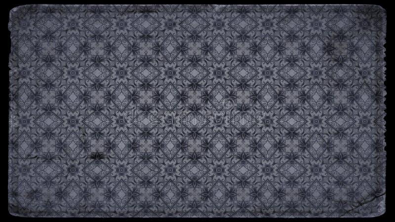 Schwarzes und Gray Vintage Floral Pattern Wallpaper-Entwurfs-Schablonen-schöne elegante Illustration stock abbildung