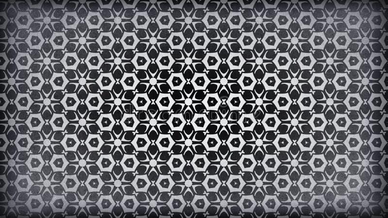 Schwarzes und Gray Vintage Floral Pattern Wallpaper-Entwurfs-Schablonen-schöne elegante Illustration vektor abbildung
