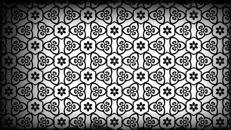 Schwarzes und Grey Decorative Geometric Background Pattern-Grafik lizenzfreie abbildung