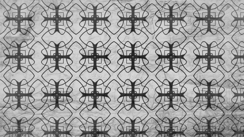 Schwarzes und Grey Geometric Ornament Background Pattern-Entwurfs-schöne elegante Illustration vektor abbildung